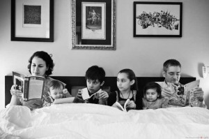 Changes Psychology family all reading in bed bw