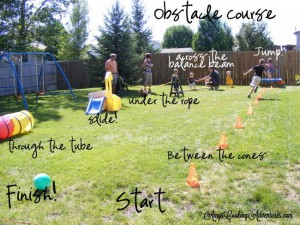 Changes Psychology Obstacle course backyard